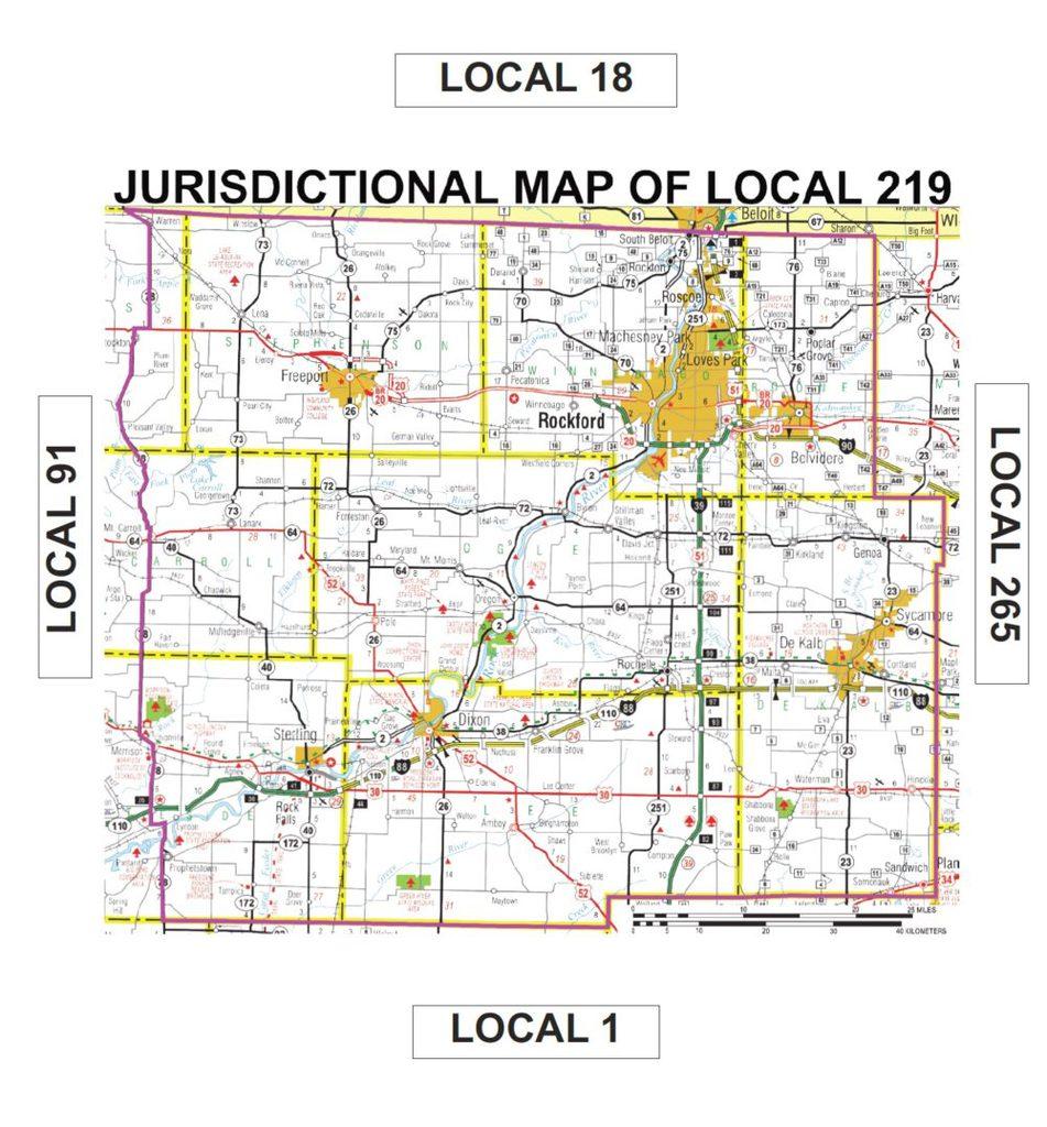 Jurisdiction Map Sheet Metal Workers Local 219